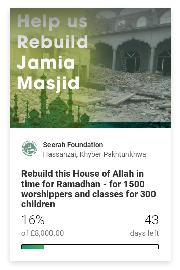 Help Rebuild Jamia Masjid